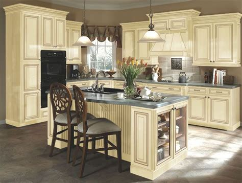kitchen paint colors with cream cabinets kitchen idea 3 distressed cream cabinets this has tile