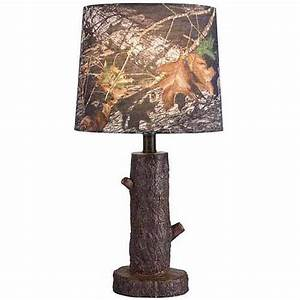mossy oak stump accent lamp with mossy oak camo shade With camo floor lamp