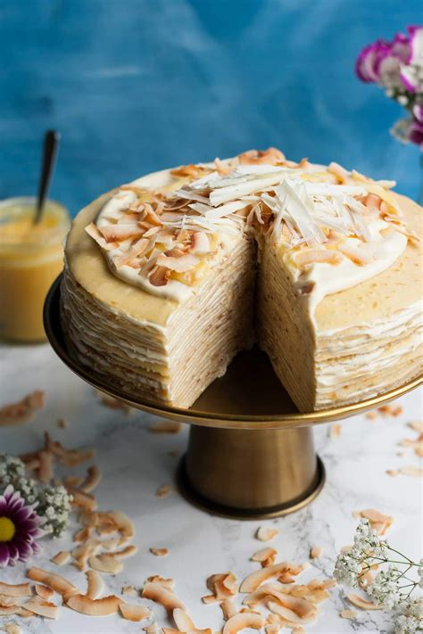 white chocolate lemon curd crepe cake eat love eat