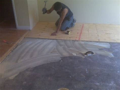 nailing plywood  concrete floor page  flooring
