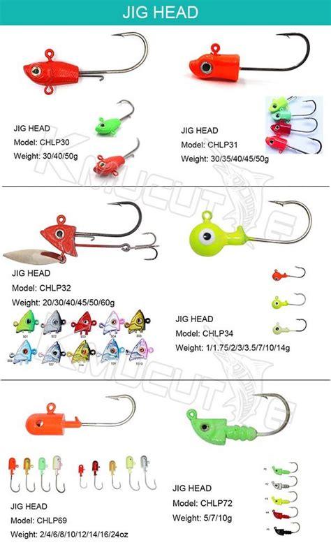 chlp primary color lead head jig hook kmucutie tackle