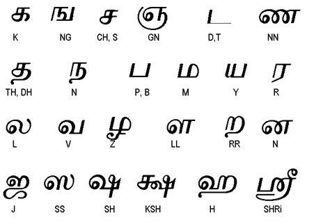tamil alphabet consonants india tamil language