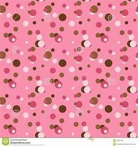 Pink & Brown Retro Polka Dots Stock Photography - Image ...
