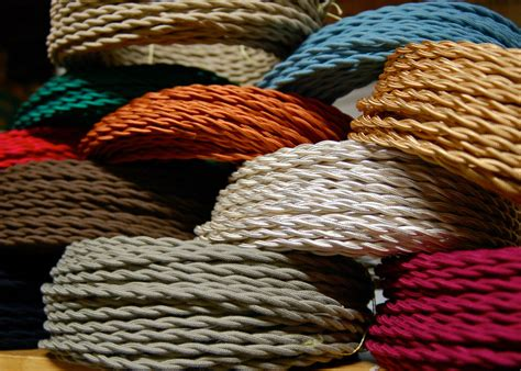 cloth covered l wire 25 39 cotton cloth covered twisted electrical wire vintage