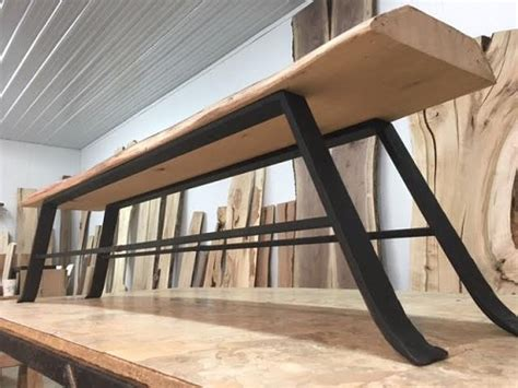 hand forged steel bench table legs bench table base