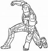 Iron Man Superheroes Coloring Pages Drawing Printable Drawings sketch template