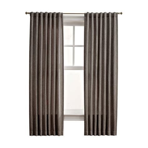 Thermalogic Curtains Home Depot by Martha Stewart Living Zinc Thermal Tweed Back Tab Curtain
