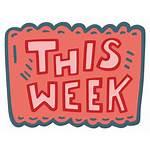 Week Infos Woche Sie Etwas Lernen Meinen