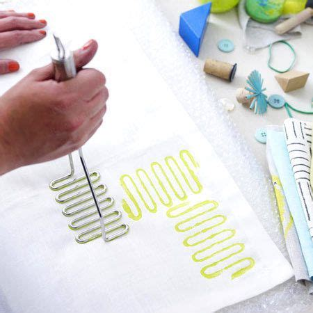 Stoff Bedrucken  Anleitung Und Kreative Ideen  Ideen  Pinterest  Stoff Bedrucken