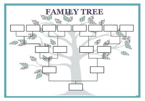 blank family genogram template cub scouts