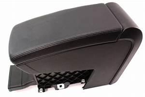 Black Leather Center Console Armrest 06