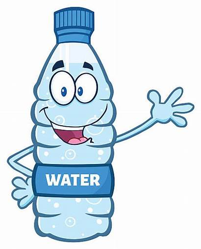 Bottle Water Cartoon Plastic Clipart Illustration Vector