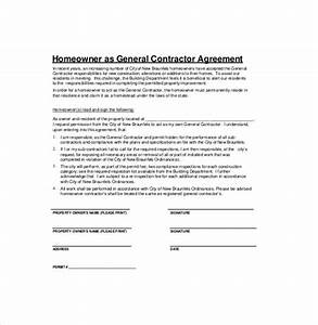 contractor agreement template 18 free word pdf With general contractors contract template