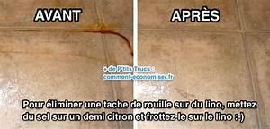 Produit Pour Enlever La Rouille : tache de rouille sur lino l 39 astuce pour l 39 liminer avec ~ Dode.kayakingforconservation.com Idées de Décoration
