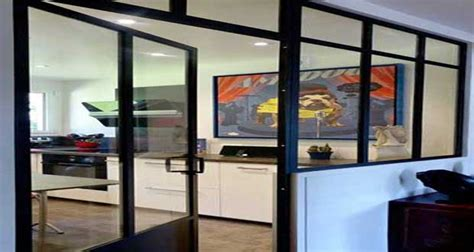 peindre placard cuisine verrière intérieure 26 photos pour séparer sans cloisonner