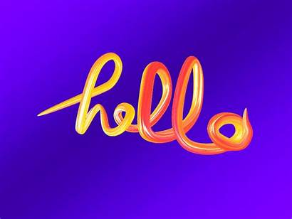 Fancy Hello Say Way Dribbble Save 3d