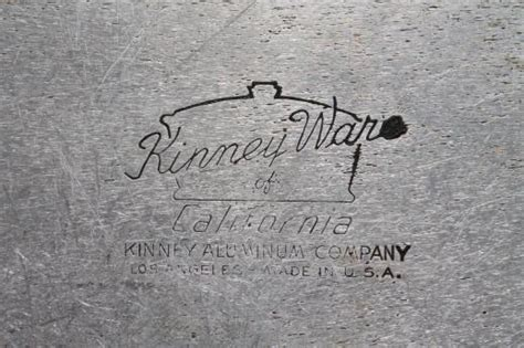 vintage kinney flavor seal aluminum cookware dutch oven  qt pot  lid