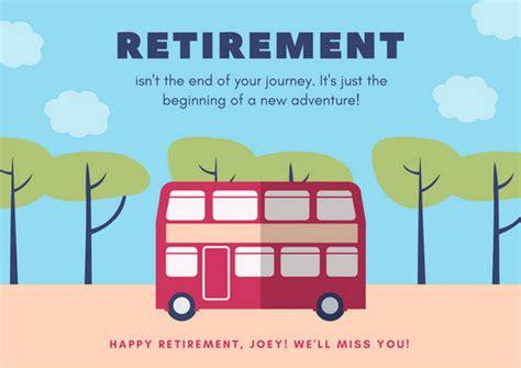 retirement card templates canva
