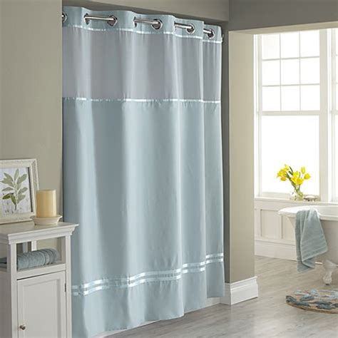 hookless shower curtains hookless 174 escape fabric shower curtain and shower curtain