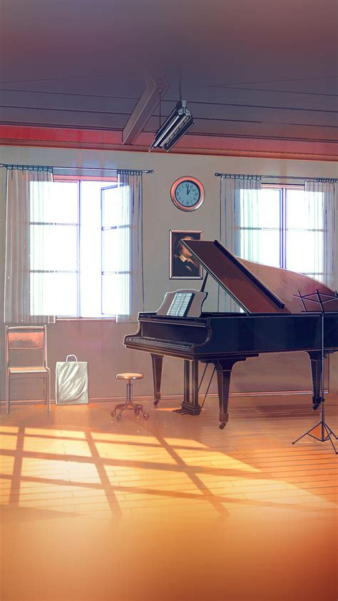 aw arseniy chebynkin  room piano illustration art