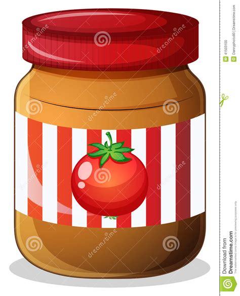 un pot de confiture un pot de confiture de tomate illustration de vecteur image 41503100