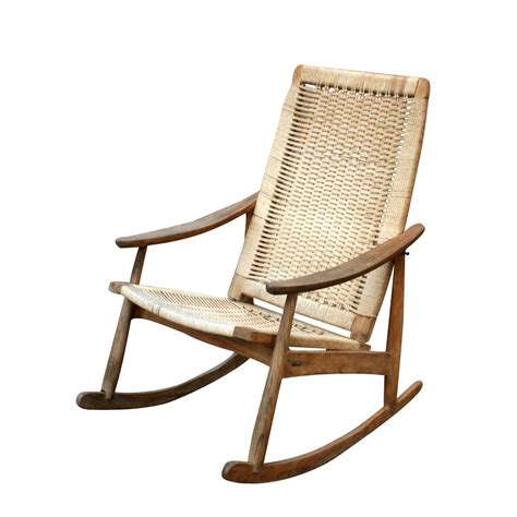 chaise rockincher vintage rocking lounge chair and ottoman set ebay