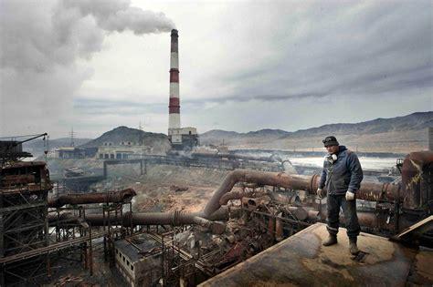 Copper smelting plant in Karabash, Russia. : pics