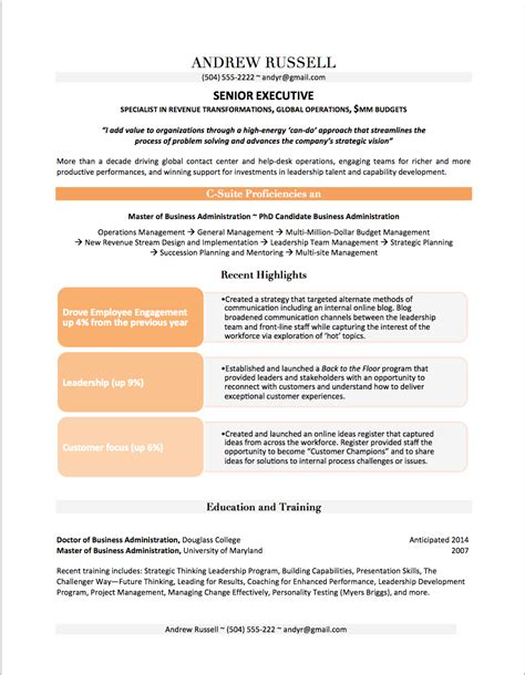 Value Proposition Resume by Professional Resume Exles By Gayle Howard Top Margin Executive Cvs