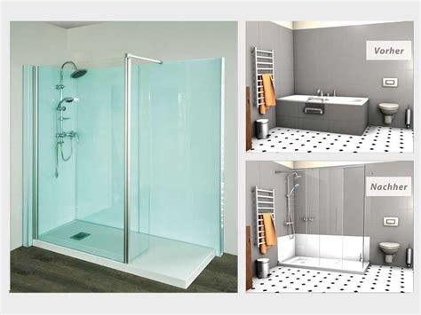 wanne mit dusche badewannenumbau alte wanne zur neuen dusche nullbarriere