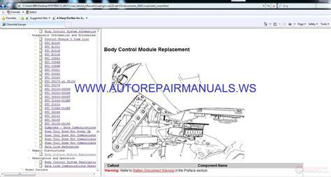 chevrolet cruze  engine  dsl service manual auto