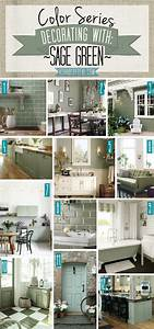 Color, Series, Decorating, With, Sage, Green