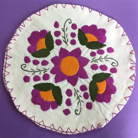 hand embroidered tortilla warmer mexican tortilla warmer