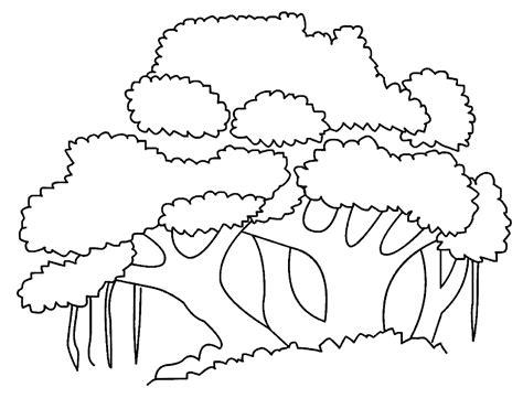 gambar pohon beringin untuk diwarnai anak