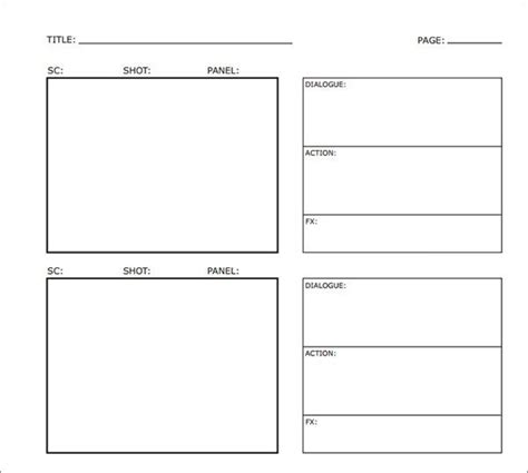 Design Storyboard Template by Sle Free Storyboard 33 Documents In Pdf
