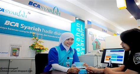 lowongan kerja bank bca syariah terbaru september
