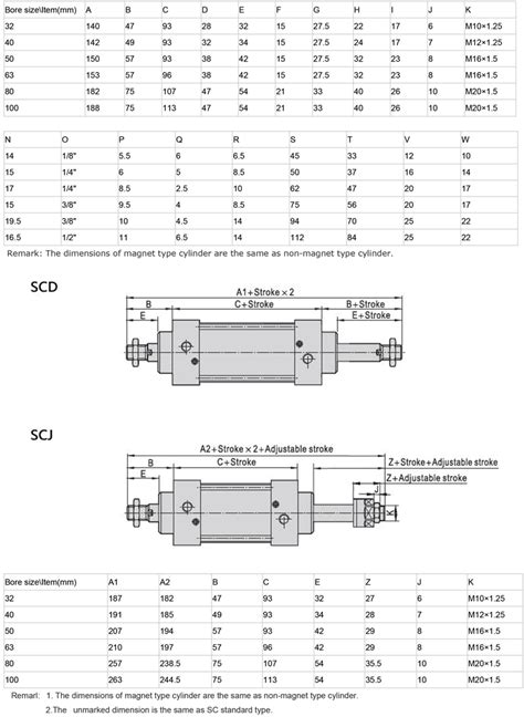 Pneumatic Telescoping Cylinder New Airtac Type Sc Series