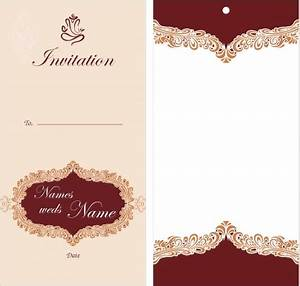 Marvelous ideas invitation card design motive white for Blank wedding invitation templates vector
