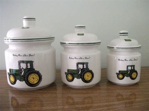 deere kitchen canisters could put decals on my white canisters the kitchen