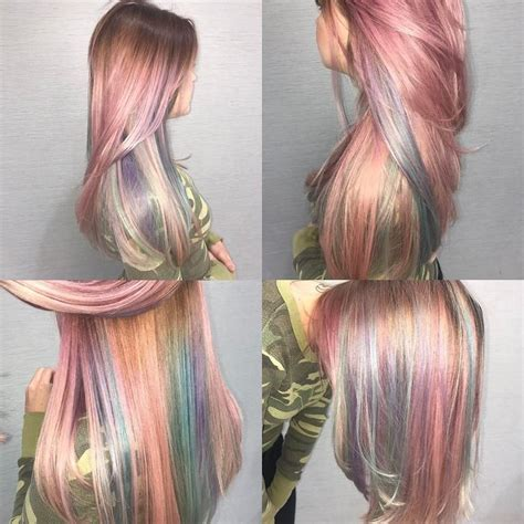 iridescent holographic hair coloring ideas