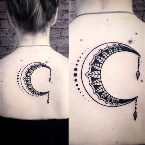 hidden meanings   crescent moon tattoo tattoos win