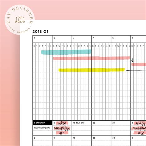 quarterly planner template printable schedule template