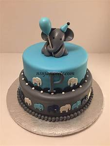 Elephant Baby Shower Cake  Cupcakes And Cookies