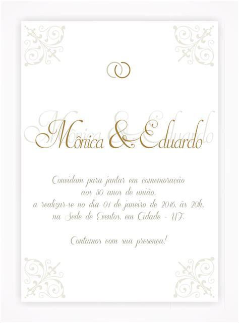 convite digital bodas de ouro prata 01 no elo7 a faz