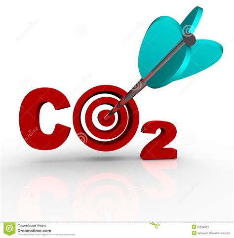 Co2 Carbon Dioxide Reduction Target And Goal Stock