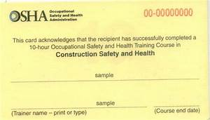 blank osha certificates bing images With osha 10 card template