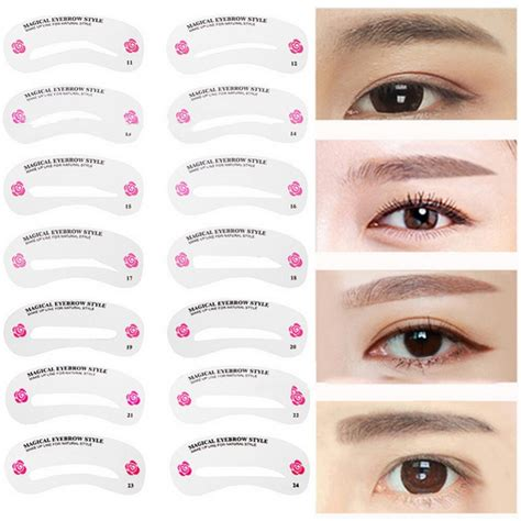 Offers flexible prices for eyebrow stencils variations depending on the importing country and quantity. 24Pcs/Set Pro Reusable Eyebrow Stencil Set Eye Brow DIY ...