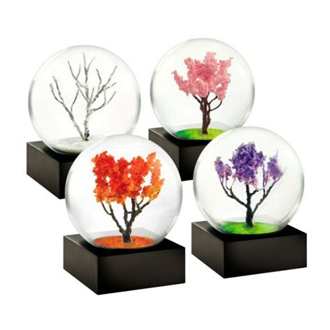 mini snow globes four seasons incredible things