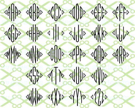 diamond monogram  letter monogram svg monogramsvgcom  svg designs