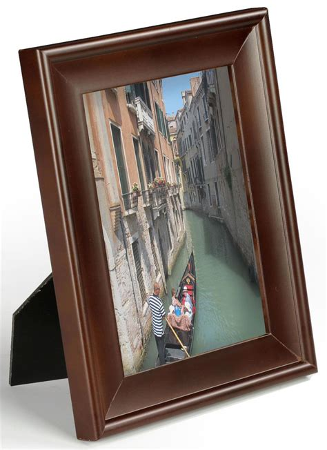 contemporary picture frame    walnut photo holder
