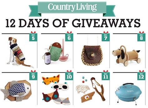 country living sweepstakes countryliving 12 days of giveaways sweepstakesbible
